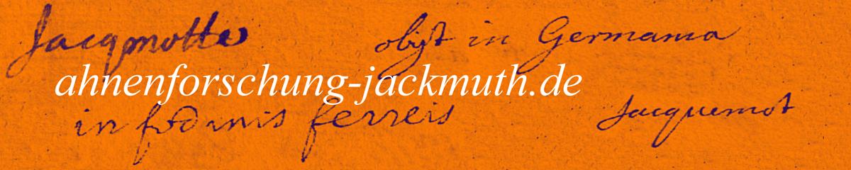 Ahnenforschung-Jackmuth.de